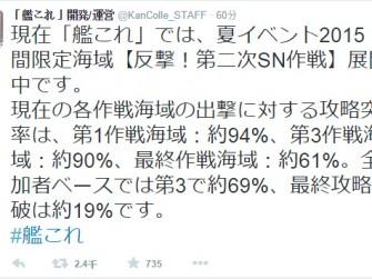 舰队collection夏活延期5天 E7通关率仅19%